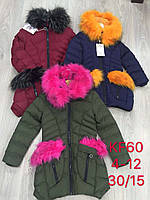 Куртка на меху для девочек S&D оптом , 4-12 лет. Артикул: KF60
