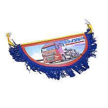 Вымпел декоративный полукруг DAF Синий Маленький