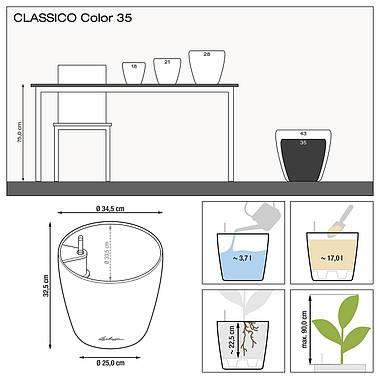 Умный вазон CLASSICO Color 35 мускатный, фото 2