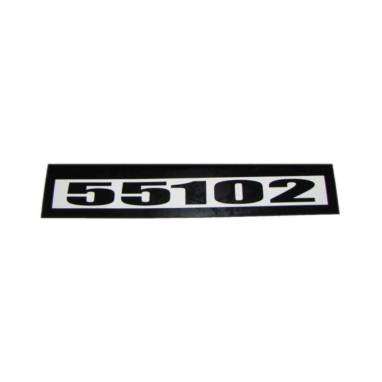 Табличка кабіни 55102 старого зразка (чорно/білі)