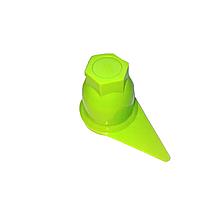 Пластиковий ковпачок на гайку 32 Зелений Стрілка