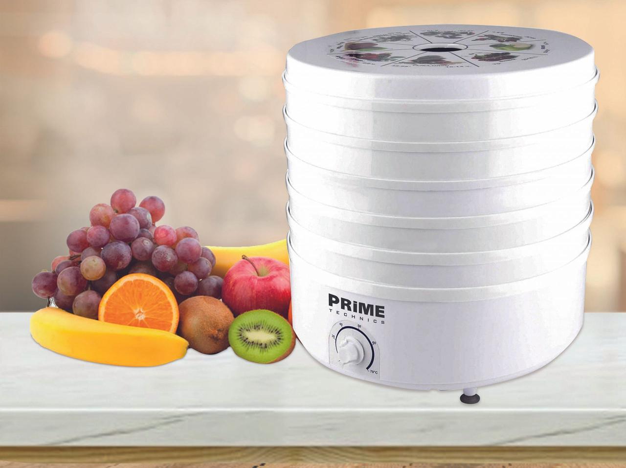 Сушилка для овощей и фруктов  PRIME Technics PFD 502 W