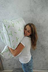 Подушка  (наполнитель - бамбуковое вискозное волокно, ткань - хлопок, размер 70х70 см, Украина)