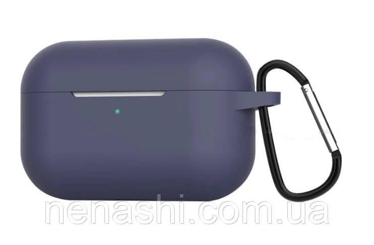Чохол силіконовий для бездротових навушників Apple AirPods Pro з карабіном, Чорний