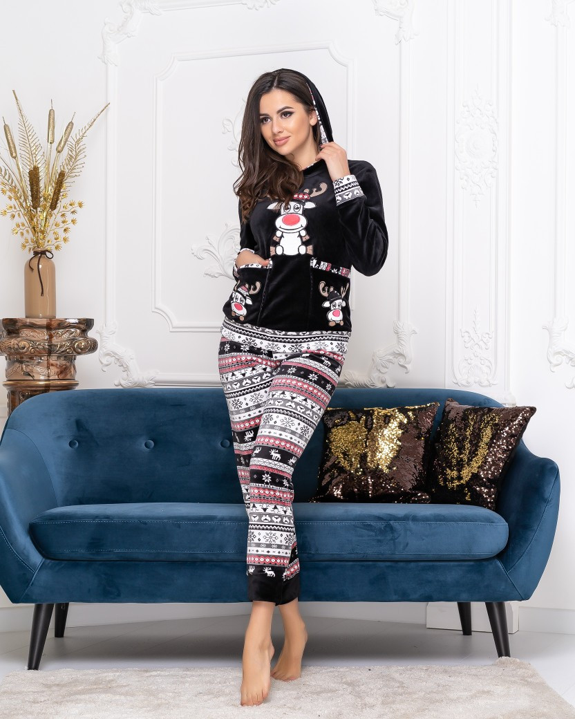 Пижамка с карманами в расцветках (DG-с18310)