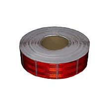 Лента светоотражающая для маркировки кузова Квадратами Красная 50м Е31