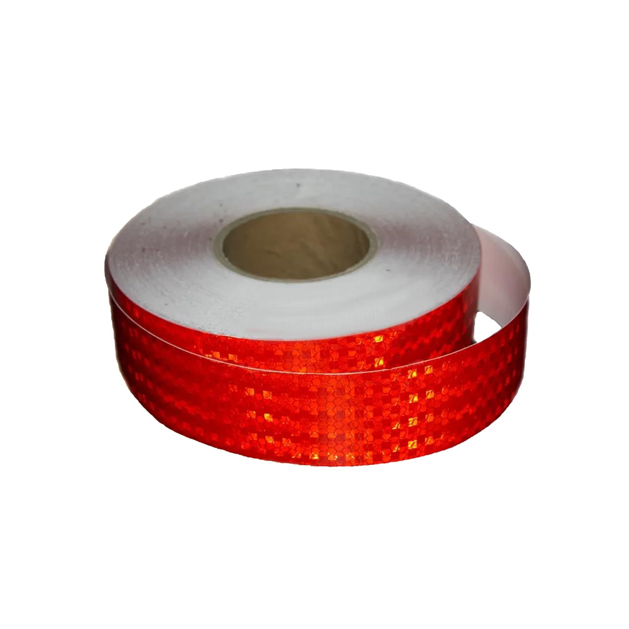 Лента светоотражающая для маркировки кузова Красная 50м Е31