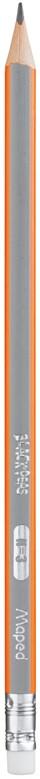 Карандаш графитовый Maped Black peps Н с ластиком (MP.851725)
