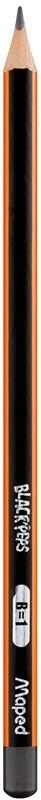Карандаш графитовый Maped Black peps B без ластика (MP.850024)