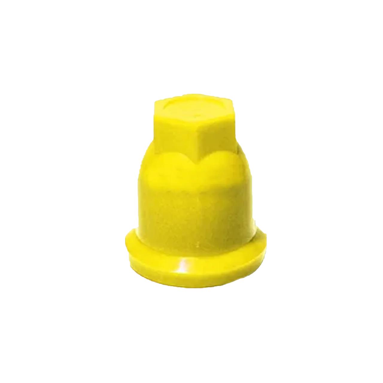 Колпачок пластиковый на гайку 32 Желтый