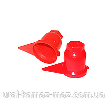 Пластиковий ковпачок на гайку 32 Червоний Стрілка