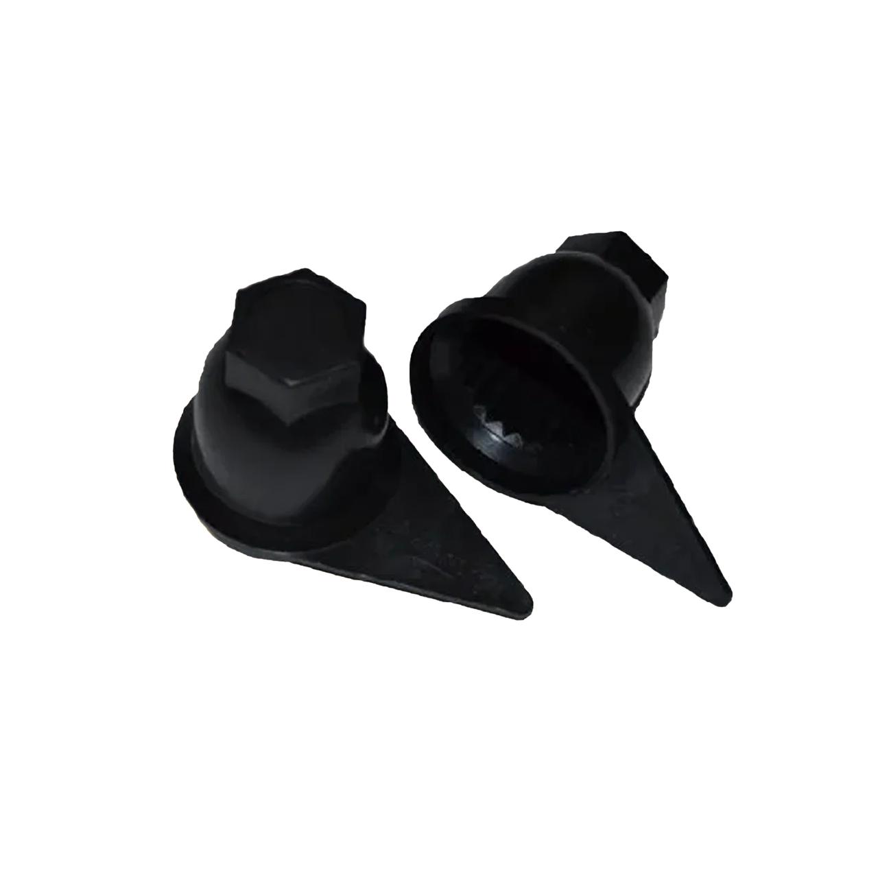 Колпачок пластиковый на гайку 32 Черный Стрелка
