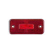 Габаритний ліхтар светодиодый Червоний з кронштейном 24v 3LED NOKTA
