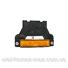 Габаритний ліхтар світлодіодний c кронштейном Жовтий 24v 6LED YP