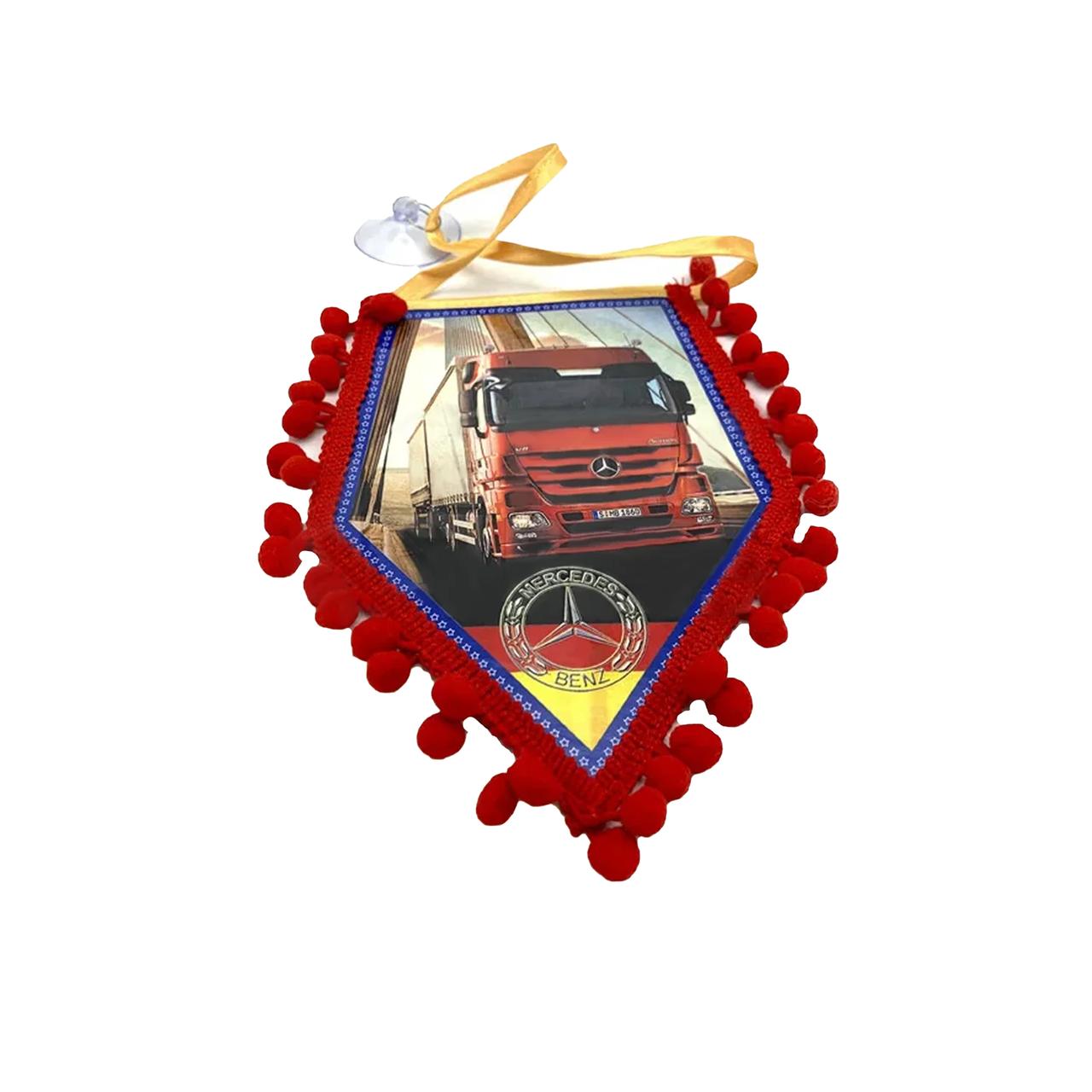 Вымпел декоративный ромб MERCEDES Красный Маленький