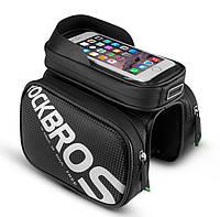 """Велосипедная сумка на раму RockBros ( РокБрос) для телефона до 6,2"""" ( код: IBV006B )"""