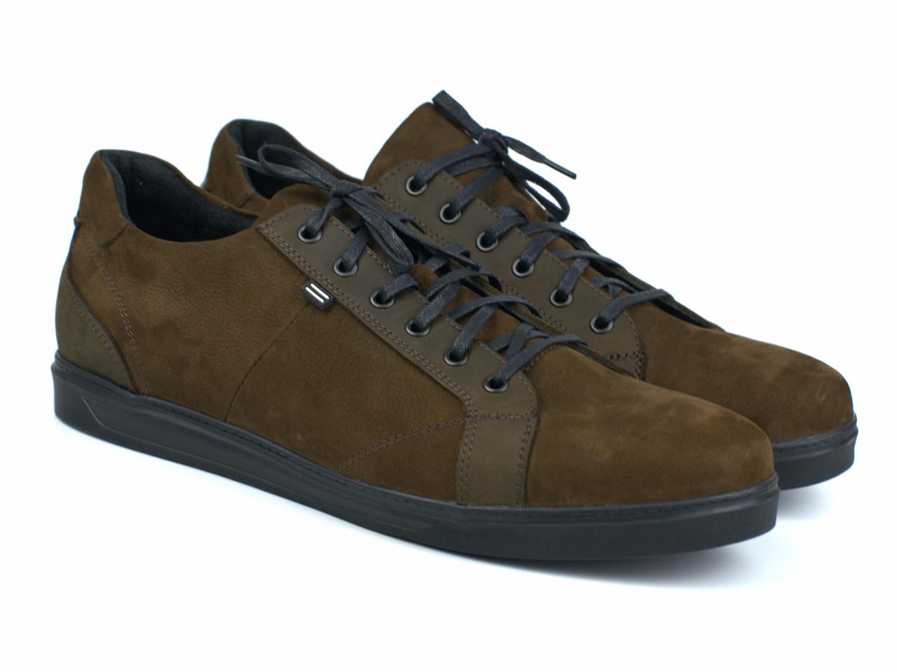 Кросівки коричневі нубук кеди чоловіче взуття великих розмірів Rosso Avangard Puran Brown Nub BS