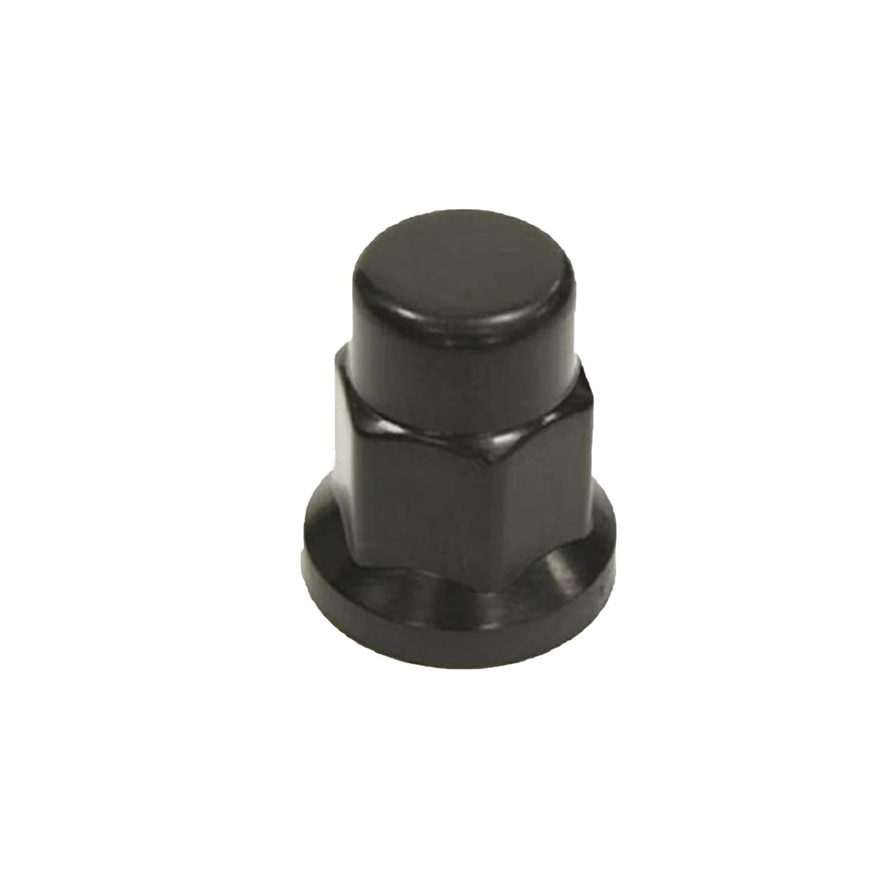 Колпачок пластиковый удлиненный на гайку 33 черного цвета