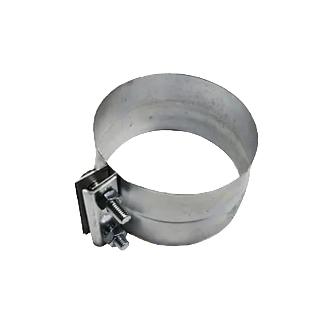 Хомут на гофрированную трубу нержавеющая сталь 128 мм