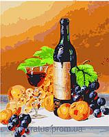 Картина по номерам Набор БЕЗ КРАСОК! КН2066 Аромат вина 40 х 50 см 950, фото 1