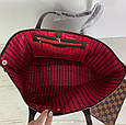 Сумка реплика Louis Vuitton Neverfull | луи витон неверфул с косметичкой | ручки Эко-кожа (0209) Белый, фото 9