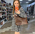 Сумка реплика Louis Vuitton Neverfull | луи витон неверфул с косметичкой | ручки Эко-кожа (0209) Белый, фото 8