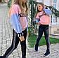 """Детские модные лосины 755 """"Кожа Лампасы"""", фото 4"""