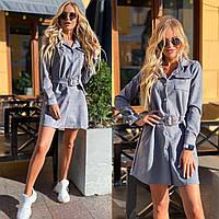 Женское платье графитового цвета GM-11-261350