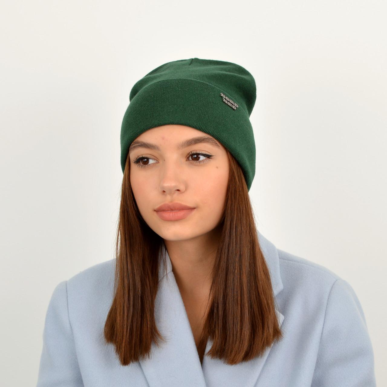 Шапка хлопковая 1428 зеленый