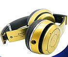 Наушники беспроводные Monster Beats HD S460 Bluetooth (MP3, FM, Aux, Mic) Золотые, фото 2