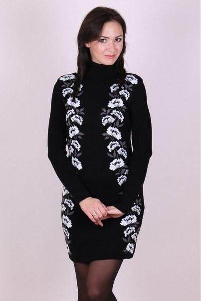Женское платье до середины бедра - Маки