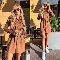 Женское платье коричневого цвета SKU-11-261351