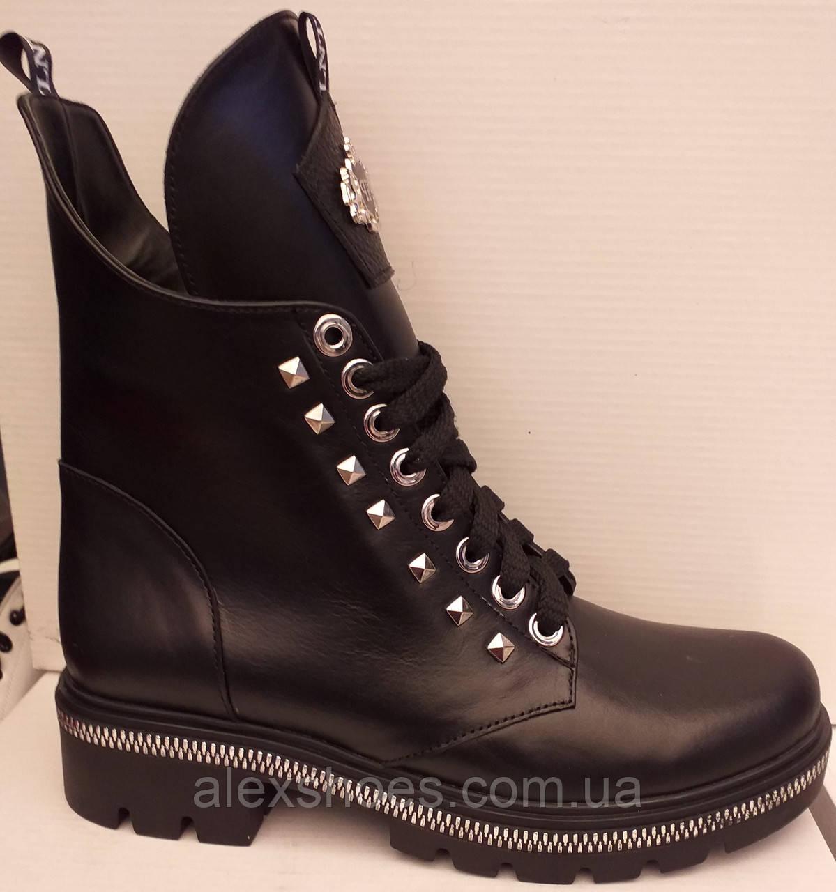 Ботинки молодежные из натуральной кожи от производителя модель ЛТ113