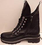 Ботинки молодежные из натуральной кожи от производителя модель ЛТ113, фото 2