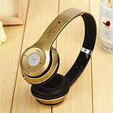 Наушники беспроводные Monster Beats HD S460 Bluetooth (MP3, FM, Aux, Mic) Золотые, фото 3