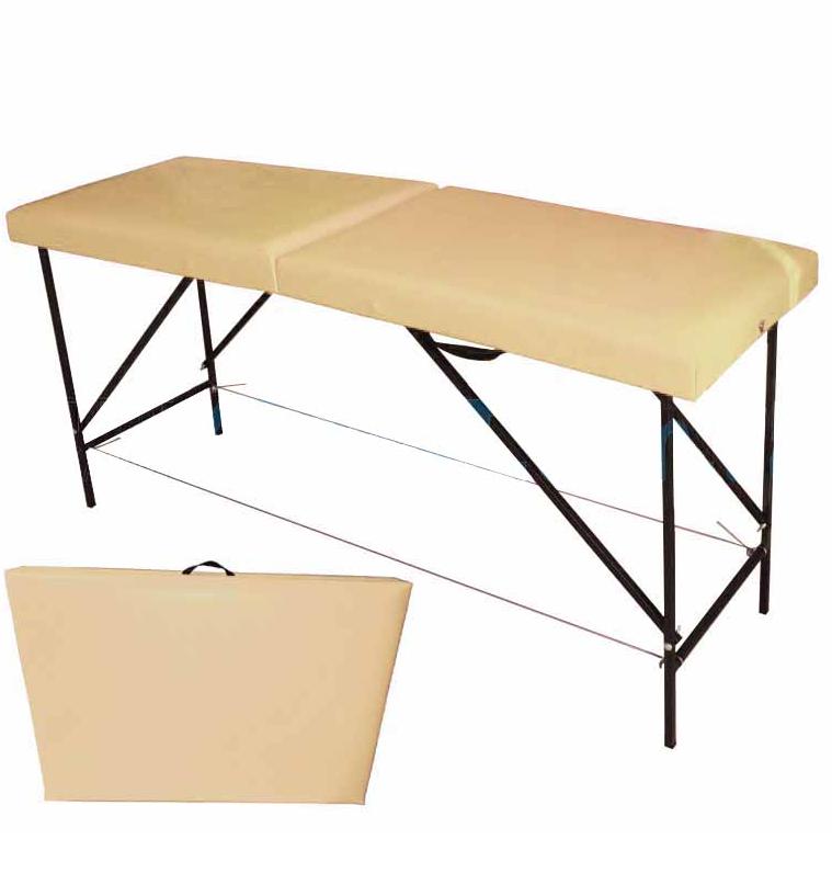 Массажный стол раскладной Автомат (чемодан)- Бежевый