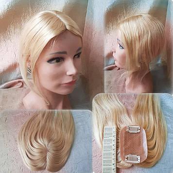 "Накладка из натуральных волос на макушку, моно-система MINI Q-A12""-613"