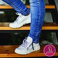 Женские белые стильные кроссовки
