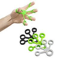 Набор эспандеров 3 шт для пальцев и кисти 4FIZJO серый, черный, зеленый 4FJ0134 GM-41-249476
