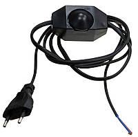 Выключатель-регулятор со шнуром и вилкой диммер черный