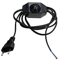Выключатель-регулятор со шнуром и вилкой диммер черный для бра