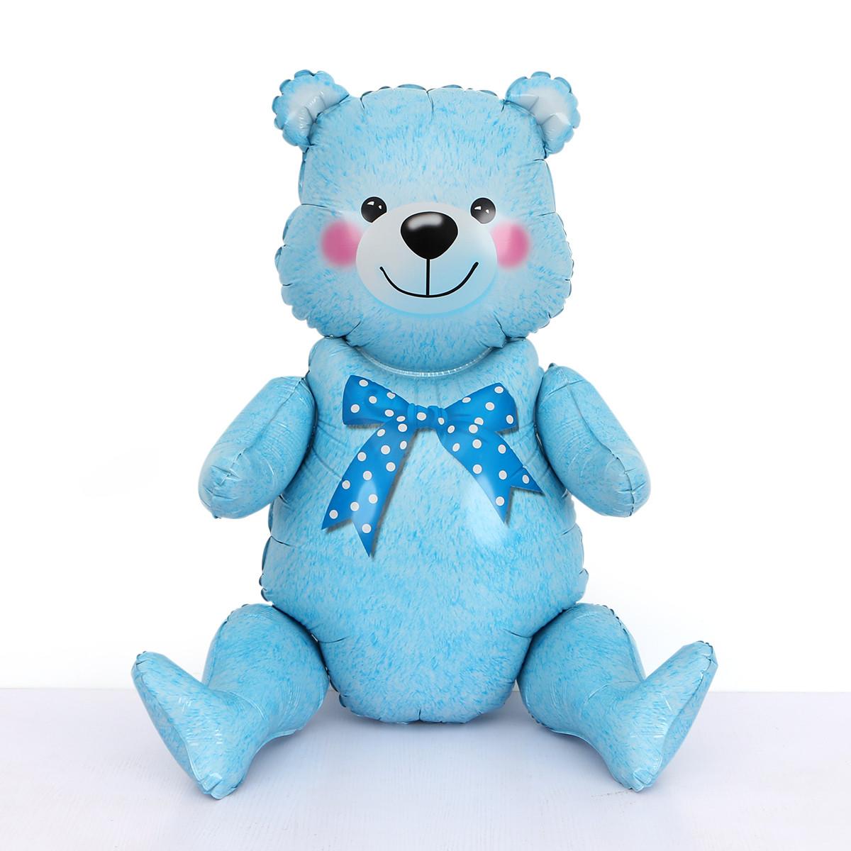"Шар-ходячка ""Медвежонок голубой""  Размер:44см*81.5см."