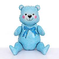 "Шар-ходячка ""Медвежонок голубой""  Размер:44см*81.5см., фото 1"