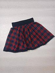Красная юбка в клетку на девочку. На рост 110 116 122 128 134 140 146 152 см. Украина