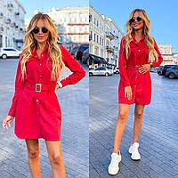 Женское платье красного цвета DOS-11-261349