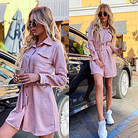 Женское платье пудрового цвета DOS-11-261347