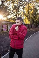 Демисезонная мужская теплая красная куртка Весна-Осень DOS-59-259591