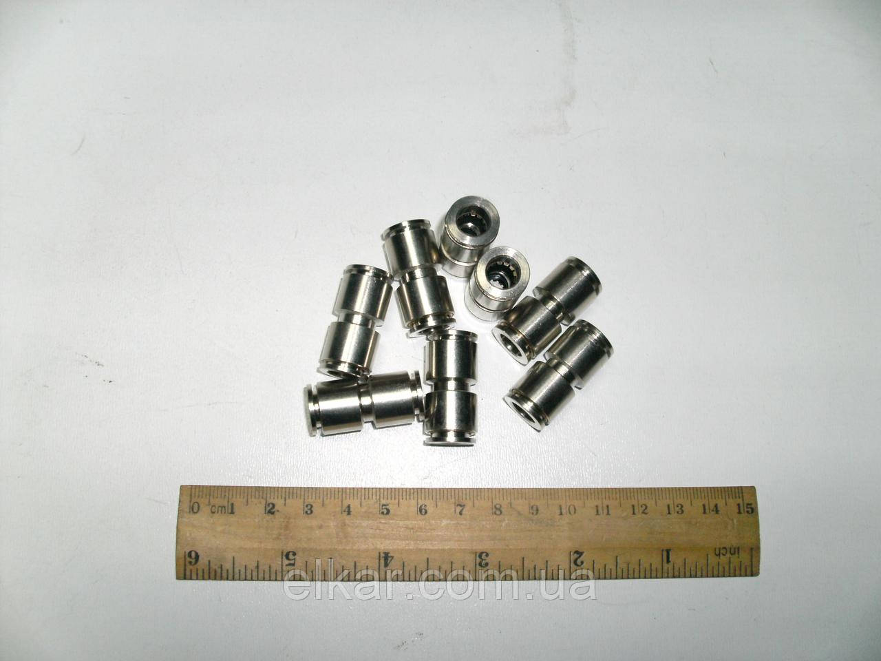 З'єднання єднувач аварійний пневматичний прямий Ø 8 мм (латунь) DT 9.85908 (вир-во Туреччина)