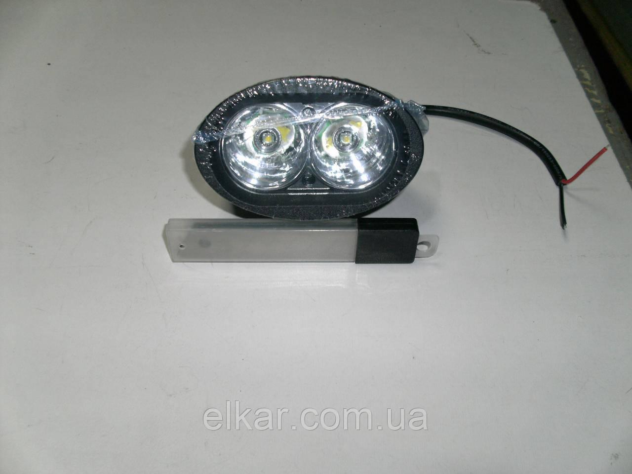 Фара додаткова робоча універсальна кругла діодна 12-85 V (2 діода 20W) L 0020