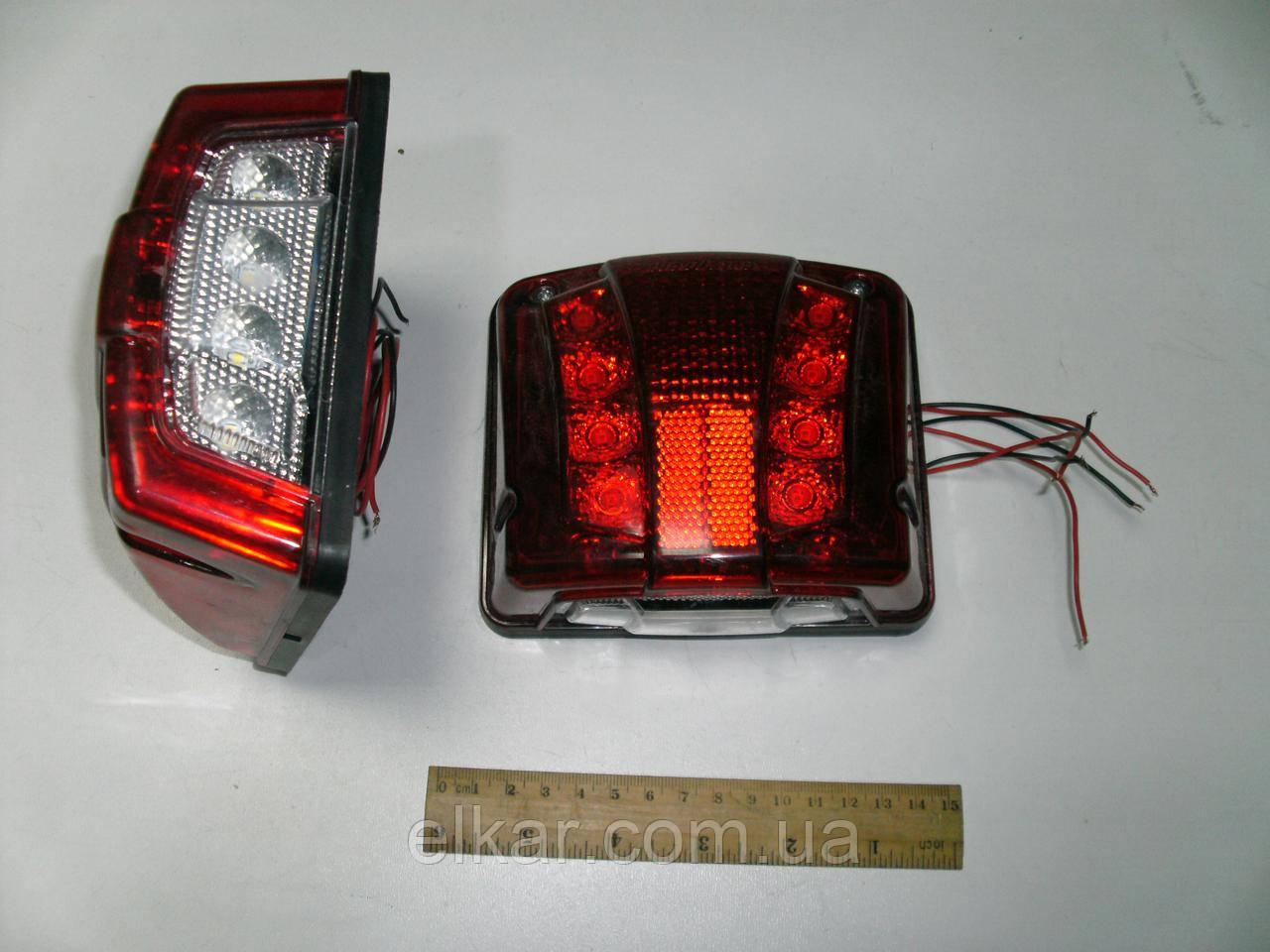 """Ліхтар освітлення номеру діодний великий, червоний """"тюнінг"""" 24В  201002L(вир-во Туреччина)"""